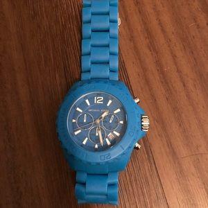 Michael Kors blue watch